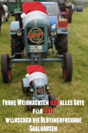 Weihnachtskarte 2016 Oldtimertreffen_Saalhausen
